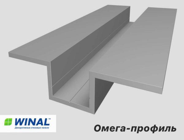 Декоративный монтажный профиль для крепления стеновых панелей WINAL