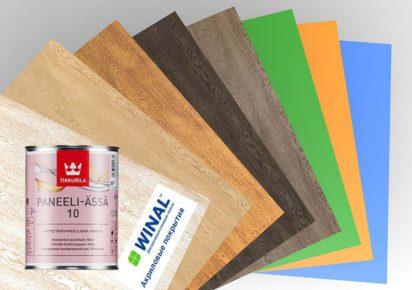 Стеновые панели WINAL с полимерным покрытием с УФ лаком на основе Гипсокартона ГКЛ, Стекломагниевого листа СМЛ, Гипсо-стружечной плиты ГСП