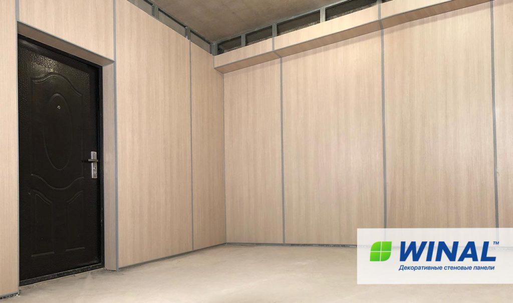 Акриловые огнеустойчивые негорючие стеновые панели в офис. Производство и монтаж. Доставка по России