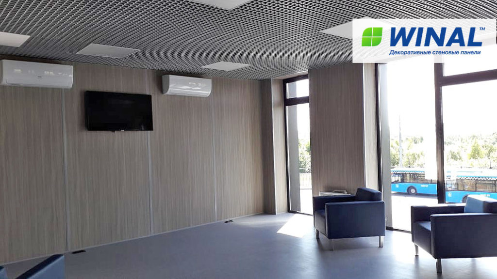 Стеновые панели ГКЛ, СМЛ, ГВЛВ для отделки стен офиса